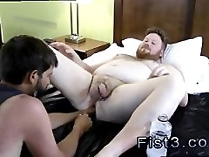Gay fisting video download Sky Works Brock's Hole with his Fist