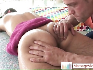 Leed getting his ass and dick massaged by massagevictim