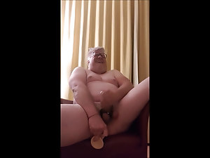 Fat Fag Jens fucking his ass till he cums handsfree