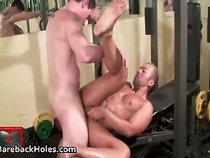 Fit gruff guy visits the gloryhole