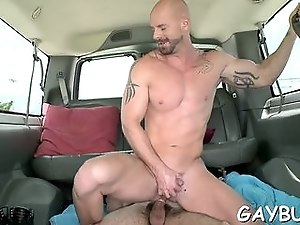 Cute twink rides a cock in the car