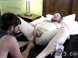 Bearded gay hunks are eager for some deep anal fisting