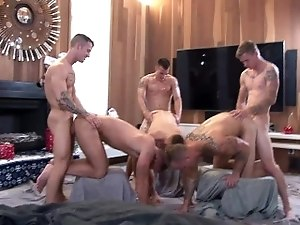 ActiveDuty All Hunks Bareback Orgy!