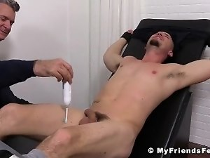 Hot dude Nito gets restrained and tickled all over his body