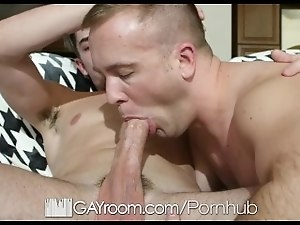 GayRoom Bored couple fuck it out on the couch