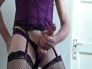 Crossdressed cumshot compilation