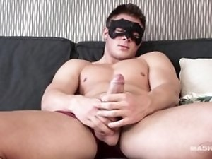 Maskurbate Str8 Neighbor Plays with Big Uncut Cock