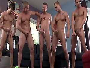 Muscular athletes orgy