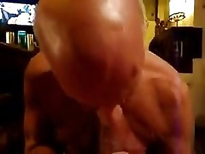 Grandpa sucking a nice big cock